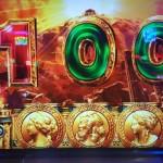 【100点満点!】『パチスロ ミリオンゴッド凱旋』通常時にリプ5連&G-ZONE中に黄色5連の大チャンスが発生した結果wwwww
